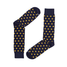 Load image into Gallery viewer, DOTS NAVY YELLOW