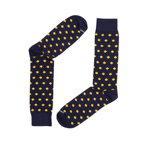 DOTS NAVY YELLOW