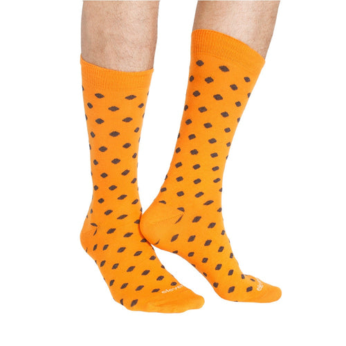 DOTS ORANGE DARK GREY