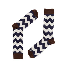 Load image into Gallery viewer, ZIGZAG NAVY CREAM