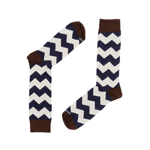 ZIGZAG NAVY CREAM