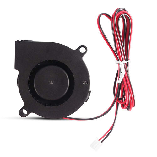 Cooling Blower Fan, 50mm x 50mm x 15mm 5015 Ball Bearing Cooling Fan for Hotend Extruder Heatsinks with 2 Pin Terminal(12V 0.18A)