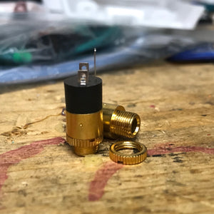 Gold Plated 3.5mm Female Stereo Panel Mount Jack Connector, Audio Headphone Metal Connector