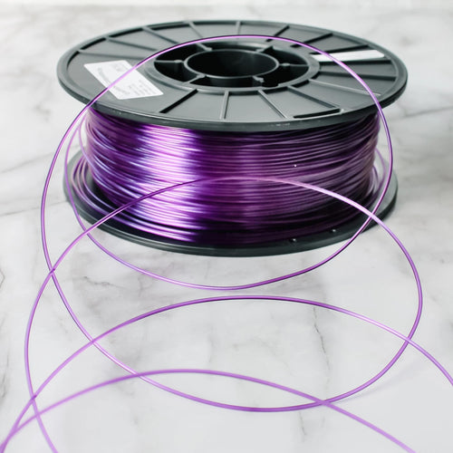 GreenGate3D Translucent Purple PET-G: 100% Recycled, 100% American Made 1.75mm Filament