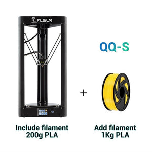 2019 Flsun QQ-S Kossel Auto Level Sensor HeatBed Pre-assembly Titan Touch 32bits boad High speed 3d Printer
