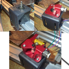 Load image into Gallery viewer, Aluminum Upgrade Dual Gear mk8 Extruder Kit 1.75mm