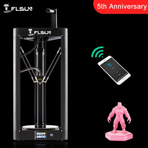 2019 Flsun QQ-S Kossel Auto Level Sensor HeatBed Pre-assembly Titan Touch Wifi 32bits boad High speed 3d Printer