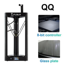 Load image into Gallery viewer, 2019 Flsun QQ-S Kossel Auto Level Sensor HeatBed Pre-assembly Titan Touch 32bits boad High speed 3d Printer