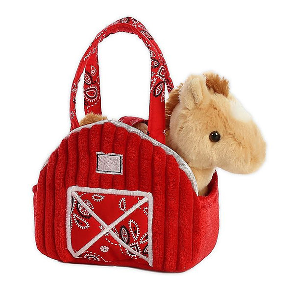 Red Barn Stuffed Animal Purse