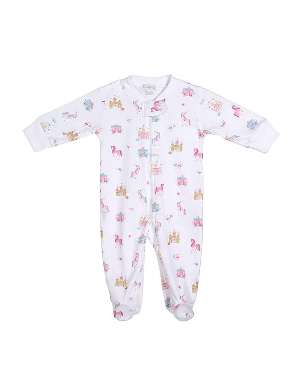 Unicorn Castle Footie w/ Zipper