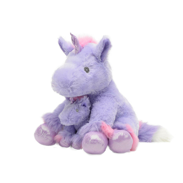 "13"" Coco Unicorn w/ Baby (Purple)"