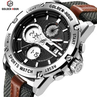 Men's Fashion Outdoor Sports Analog Digital Watches