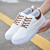 Men Canvas Breathable Lace-Up Casual Shoes