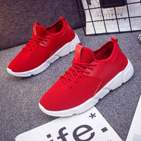 2018 New Men Black/ White Lightweight walking shoes mens Fashion Sneakers lace up breathable mesh casual shoes