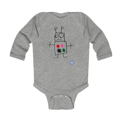 Robot: Baby Bodysuit with Long Sleeves | Drewsi Donates