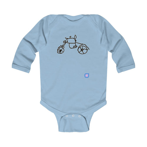 Bikie: Baby Bodysuit with Long Sleeves | Drewsi Donates