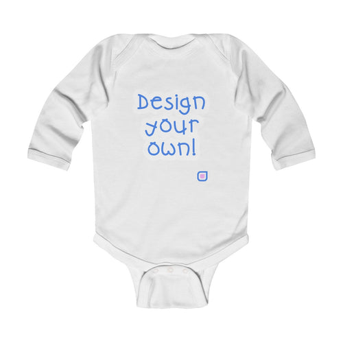 Design Your Own: Baby Bodysuit with Long Sleeves | Drewsi Donates
