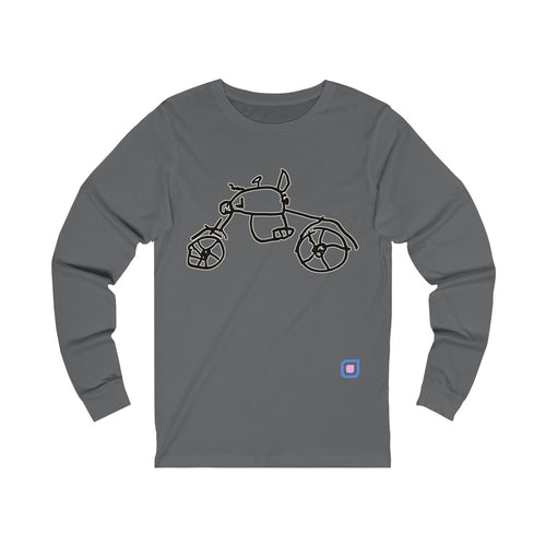 Bikie: Adult Unisex Long Sleeve T-Shirt | Drewsi Donates