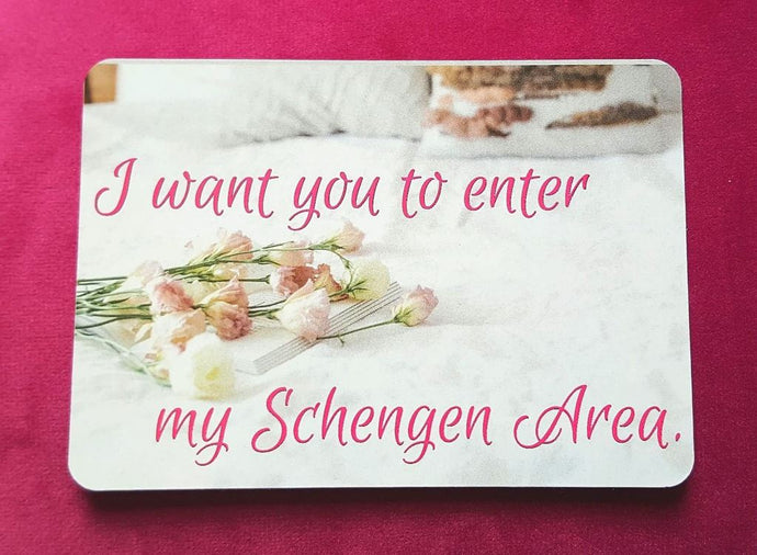 I Want You To Enter My Schengen Area Fridge Magnet - Magnets