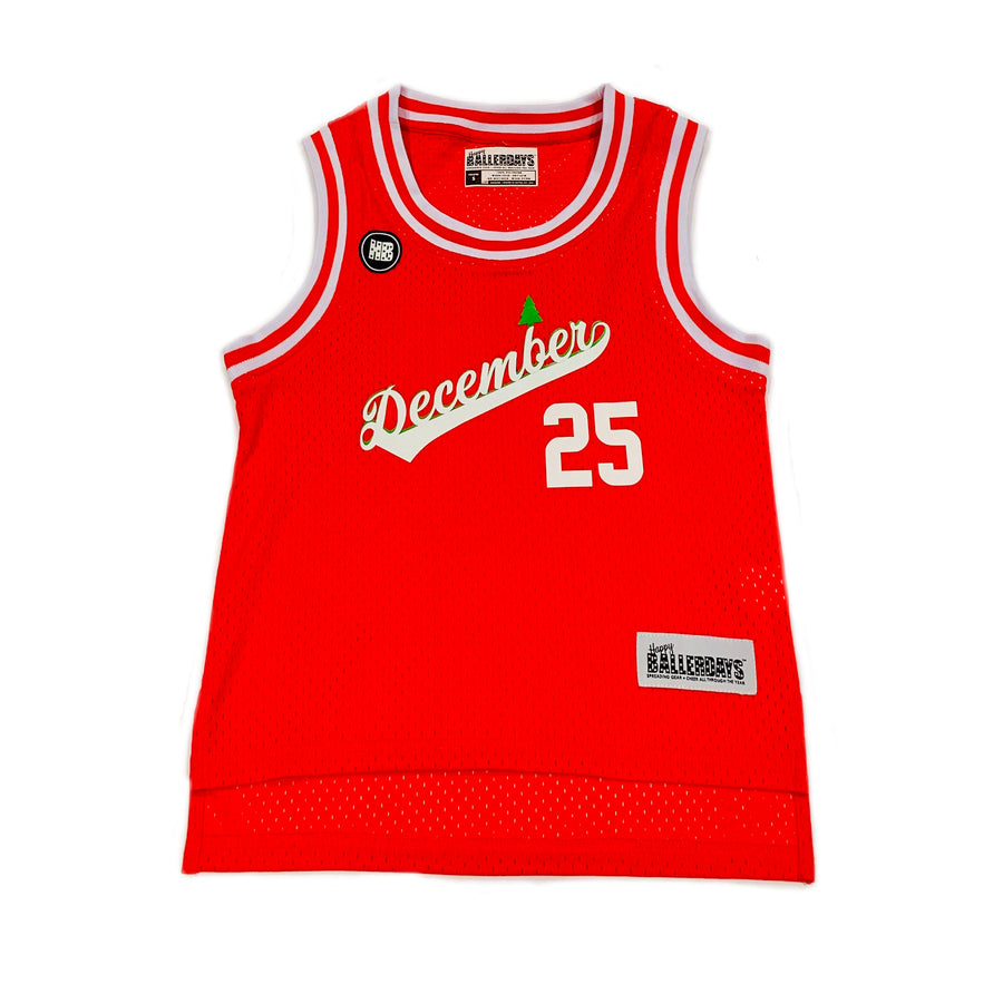 TODDLER BOYS BASKETBALL JERSEY - RED CHRISTMAS