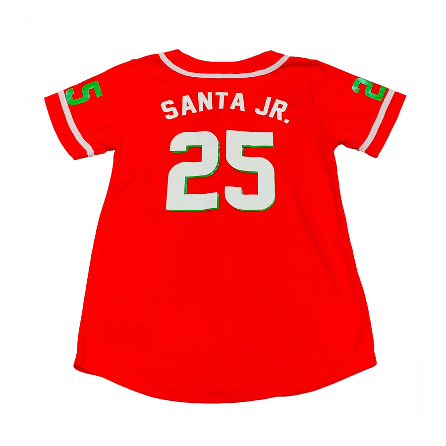TODDLER BOYS BASEBALL JERSEY - RED CHRISTMAS