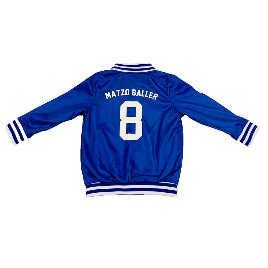 UNISEX YOUTH BASEBALL JACKET - HANUKKAH