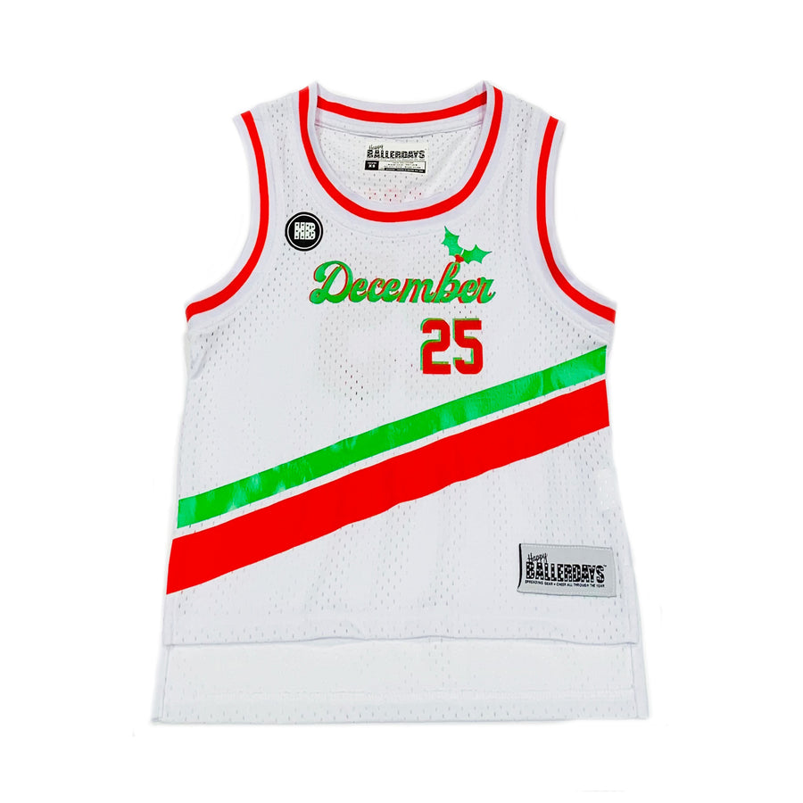 TODDLER GIRLS BASKETBALL JERSEY - WHITE CHRISTMAS
