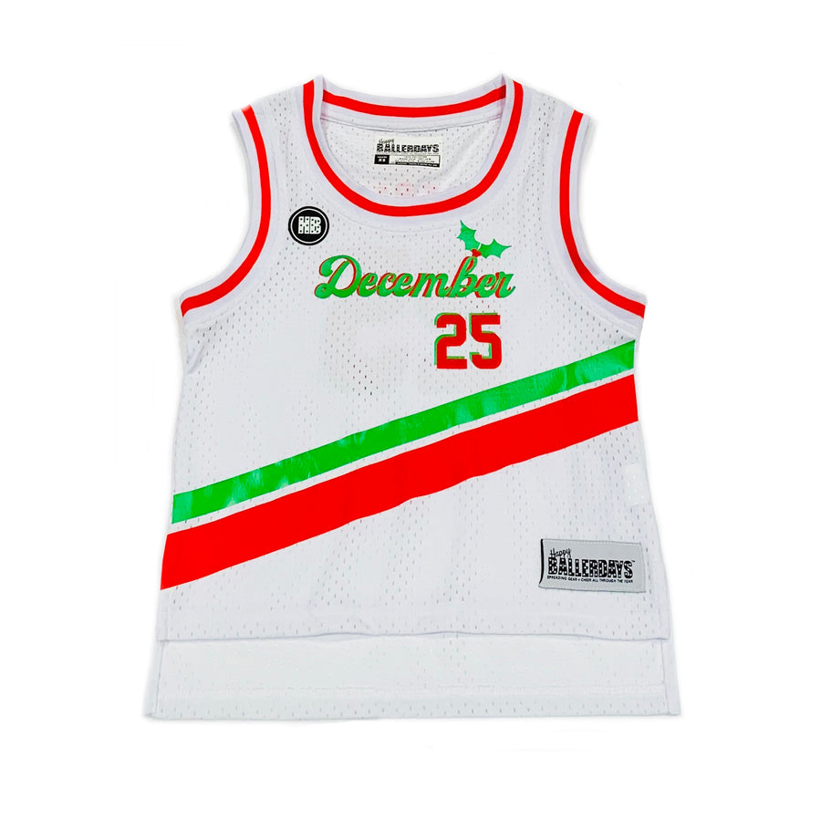 BOYS BASKETBALL JERSEY - WHITE CHRISTMAS