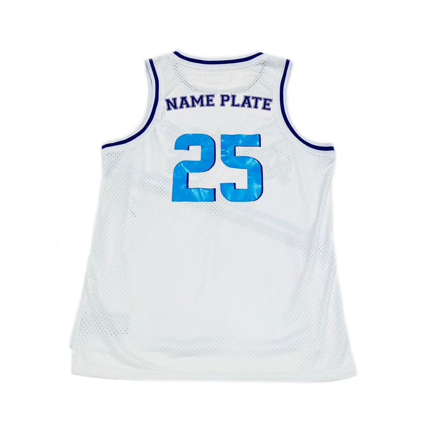BOYS BASKETBALL JERSEY - WHITE HANUKKAH