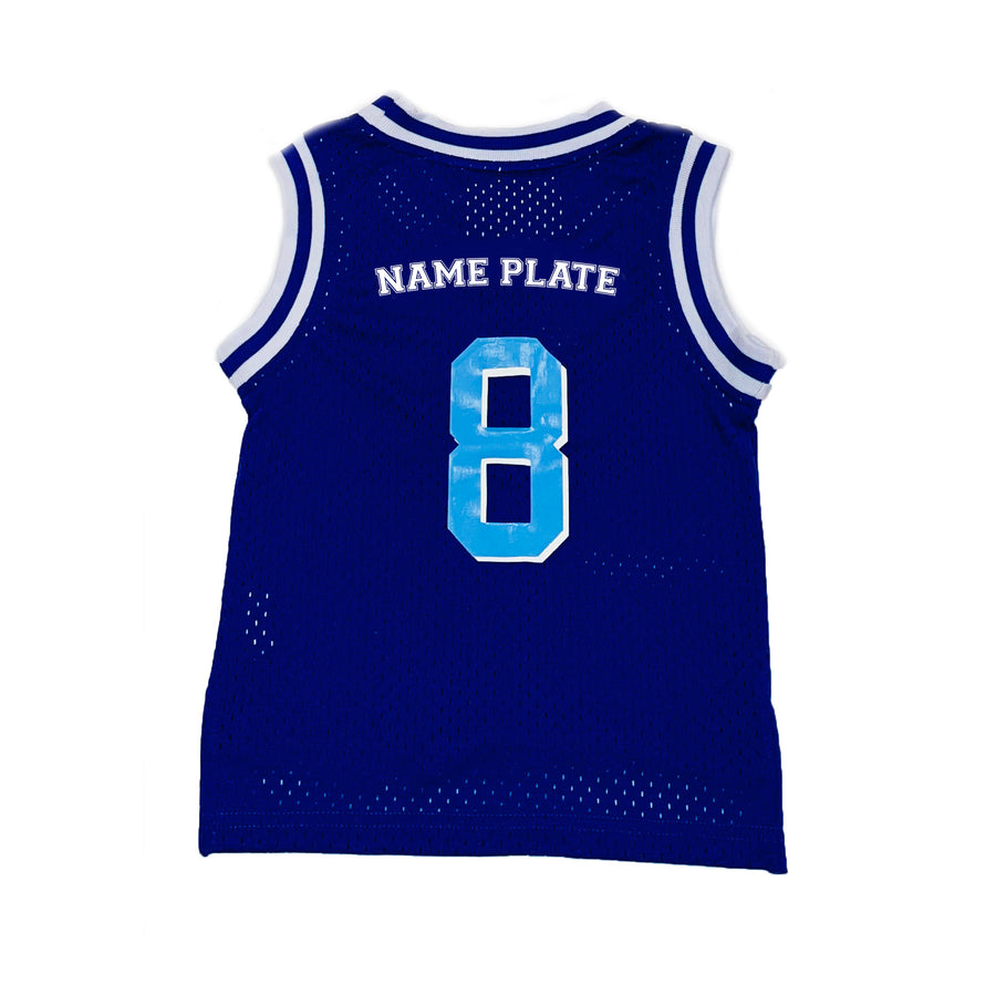 TODDLER BOYS BASKETBALL JERSEY - BLUE HANUKKAH