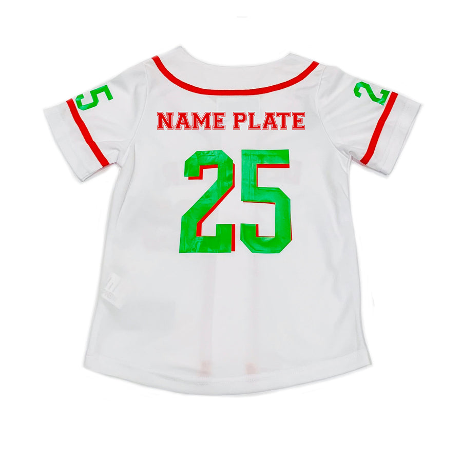 GIRLS BASEBALL JERSEY - WHITE CHRISTMAS