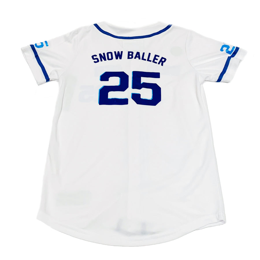 TODDLER BOYS WHITE BASEBALL JERSEY -