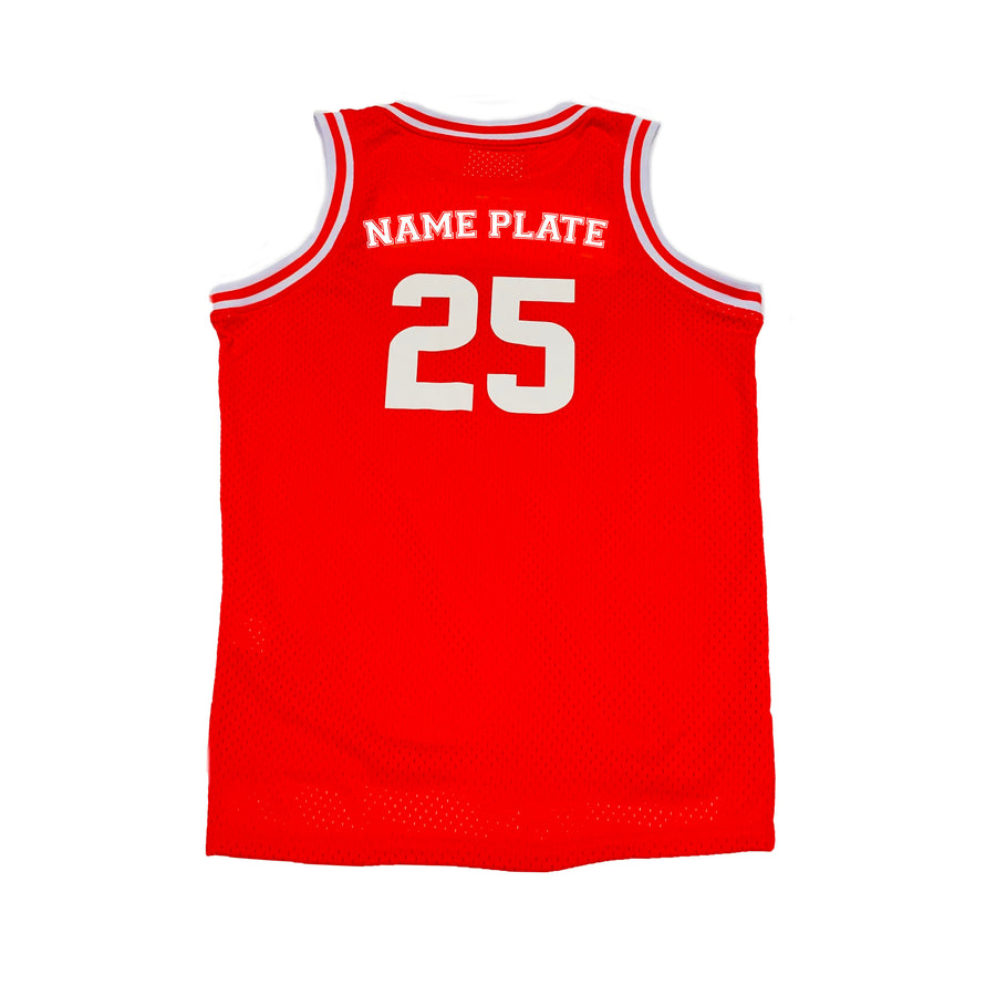 BOYS BASKETBALL JERSEY - RED CHRISTMAS