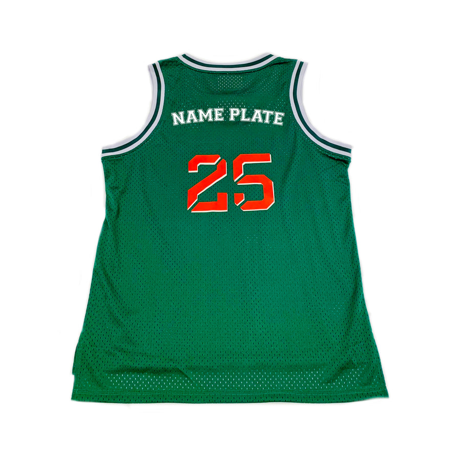BOYS BASKETBALL JERSEY - GREEN CHRISTMAS