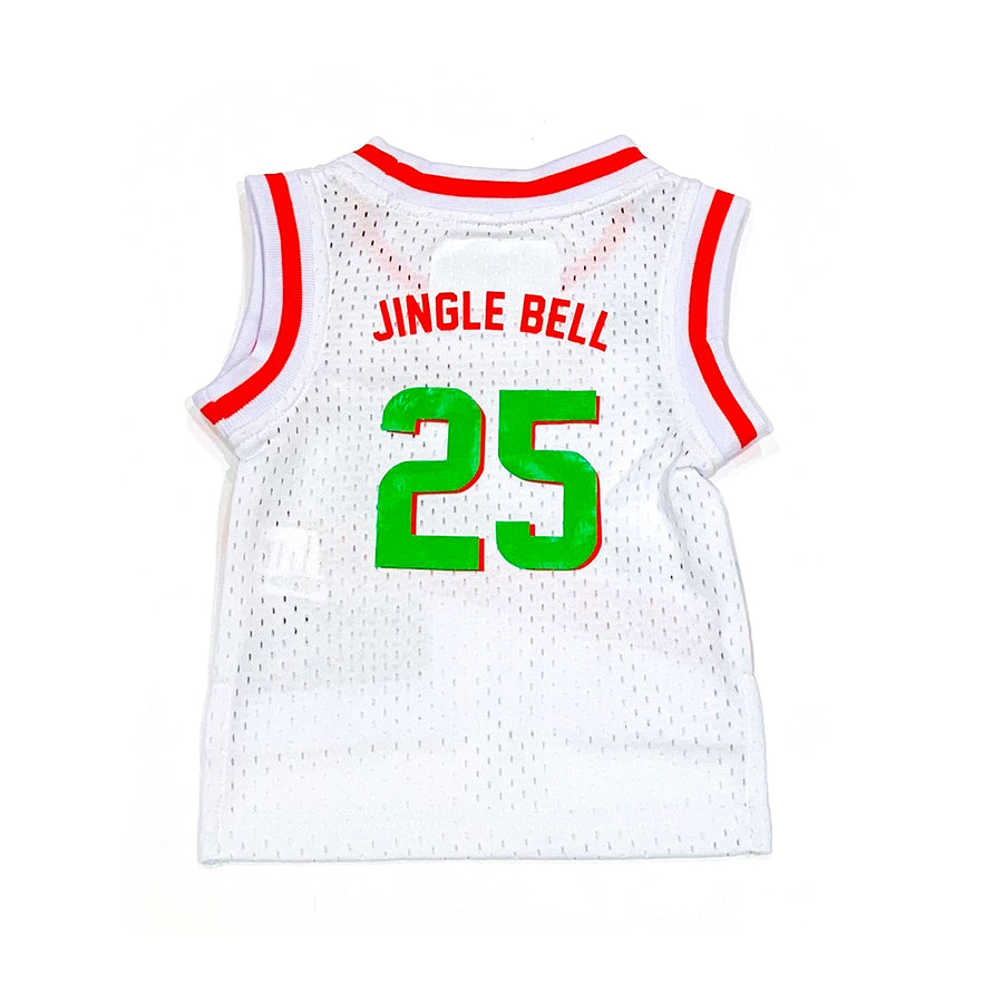 UNISEX BABY BASKETBALL JERSEY - WHITE CHRISTMAS
