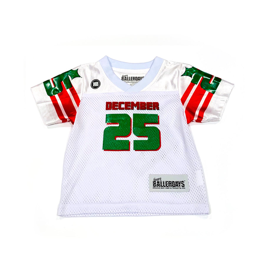UNISEX BABY FOOTBALL JERSEY - WHITE CHRISTMAS