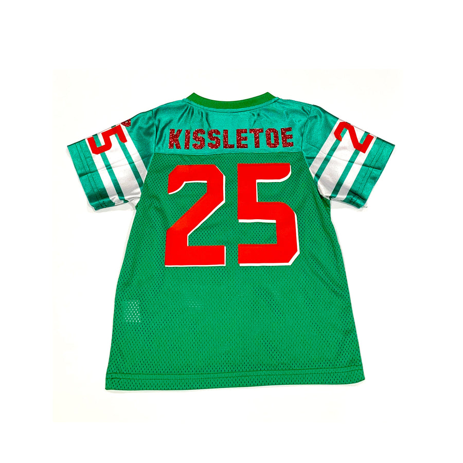 UNISEX BABY FOOTBALL JERSEY - GREEN CHRISTMAS