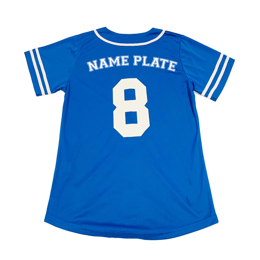 GIRLS BASEBALL JERSEY - BLUE HANUKKAH