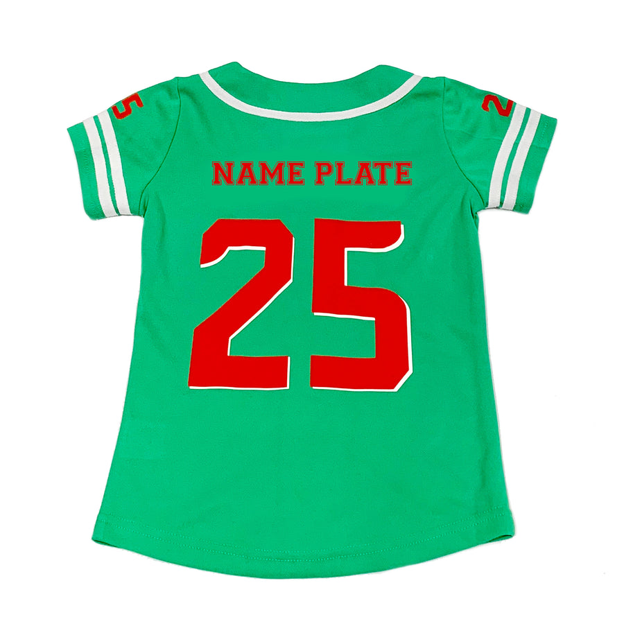 WOMENS BASEBALL JERSEY - GREEN