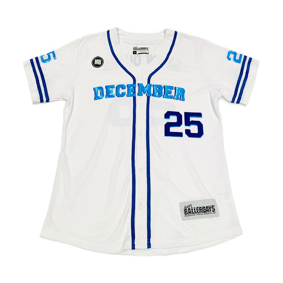 GIRLS BASEBALL JERSEY - WHITE HANUKKAH