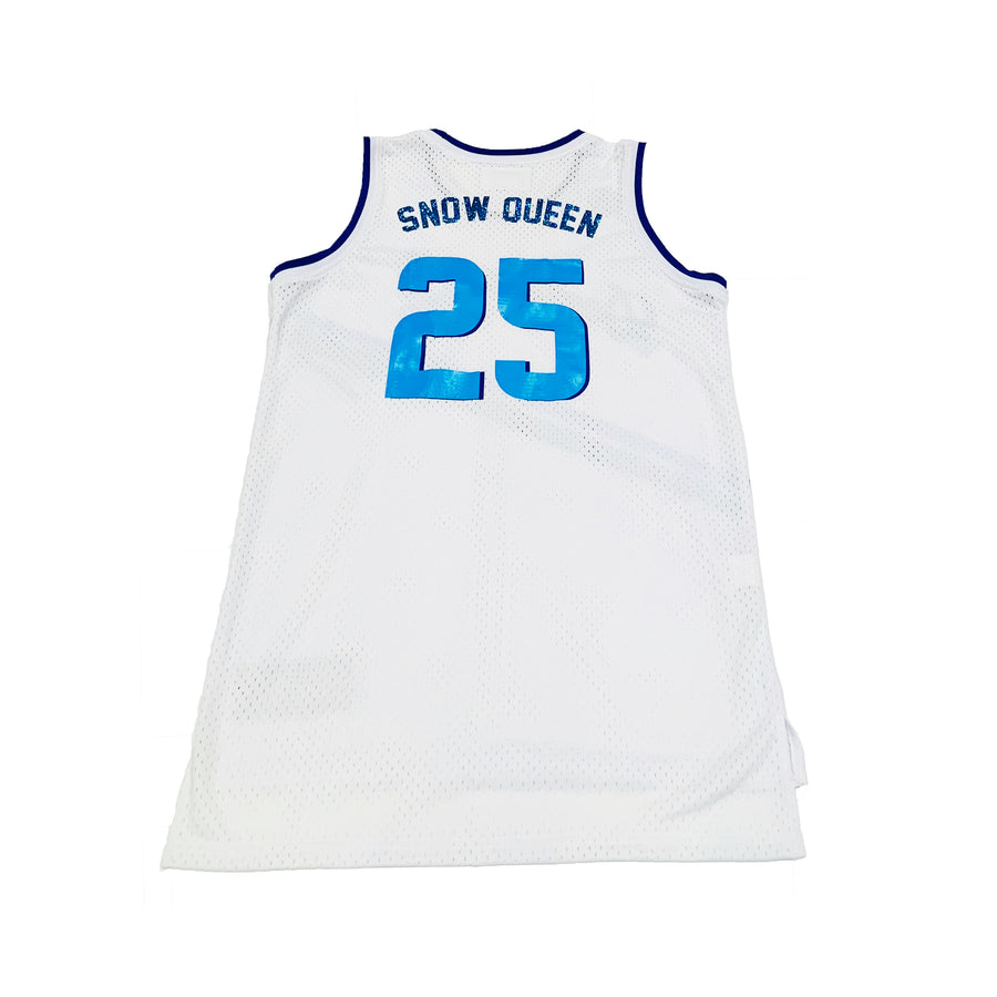 GIRLS BASKETBALL JERSEY - WHITE HANUKKAH