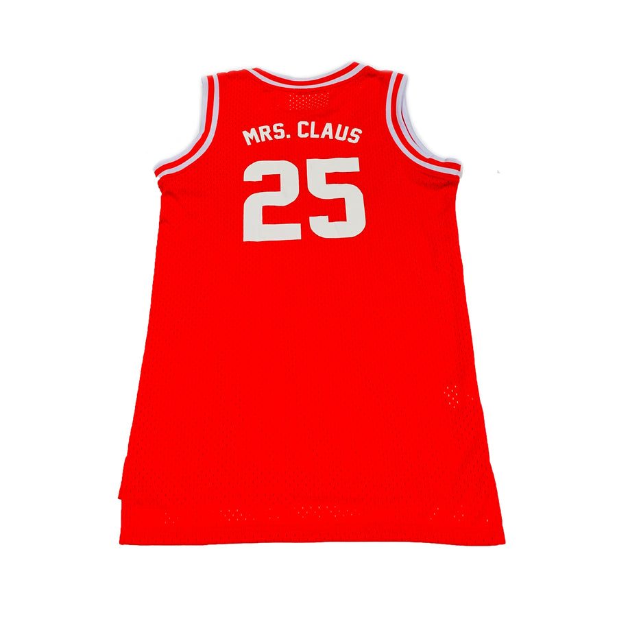 TODDLER GIRLS BASKETBALL JERSEY - RED CHRISTMAS