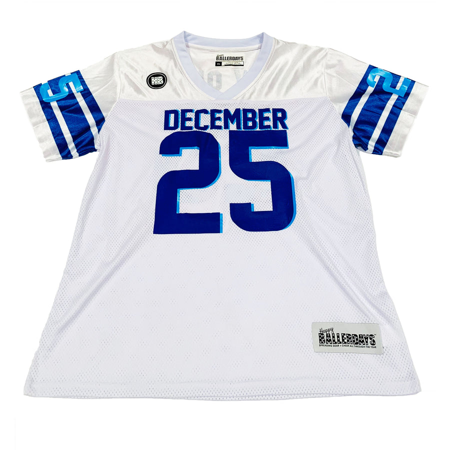 TODDLER GIRLS FOOTBALL JERSEY - WHITE HANUKKAH