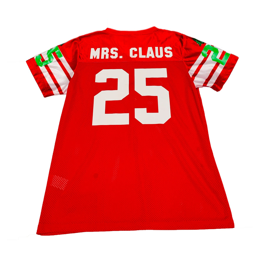 GIRLS FOOTBALL JERSEY - RED CHRISTMAS