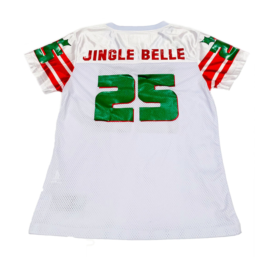 TODDLER GIRLS FOOTBALL JERSEY - WHITE CHRISTMAS