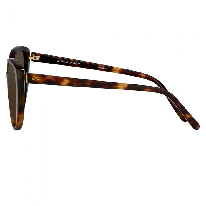Linda Farrow 517 C2 Cat Eye Sunglasses