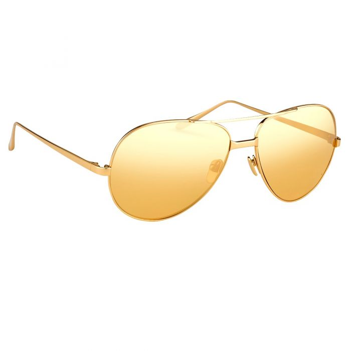 Linda Farrow 128 C11 Aviator Sunglasses