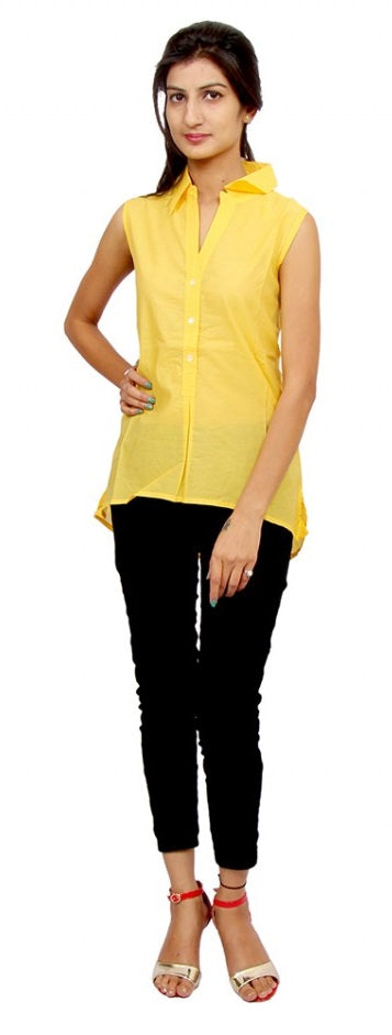 Poly Georgette Top Front Shell Buttons Full Sleeves Pintucks In Front Placket only in Bigswipe