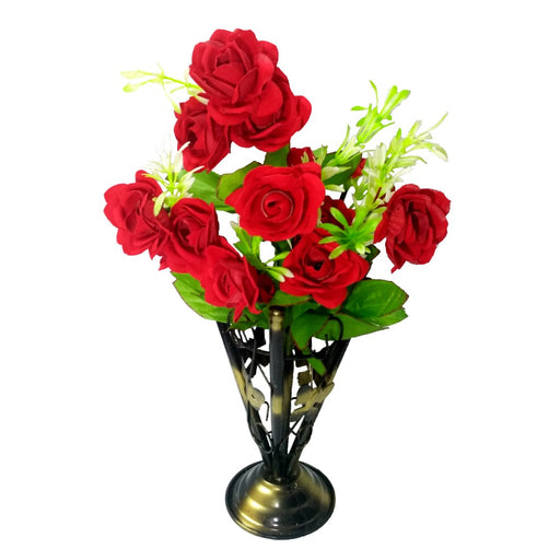 Iron Vase with Rose bunch (1 Piece) only in Bigswipe