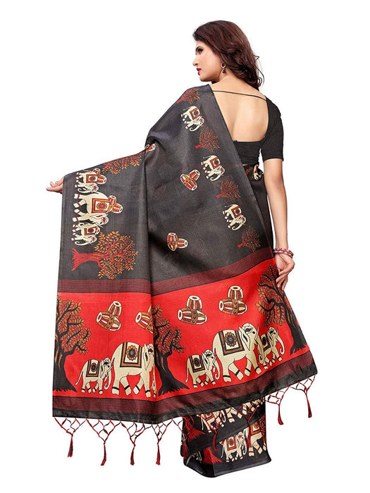 Black, Maroon Color Art Silk Saree only in Bigswipe